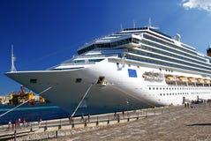 Luxury cruise ship sailing Stock Photo