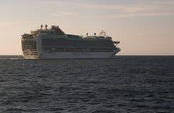 Luxury cruise ship sailing Stock Photography