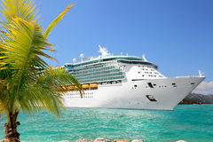 Cruise Ship. Luxury Cruise Ship Sailing from Port