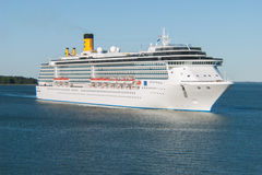 Luxury cruise ship at sea Stock Photos