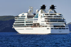 Luxury cruise ship Seabourn Odyssey Royalty Free Stock Photos