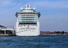 Luxury Cruise Ship  in Venice Harbor Royalty Free Stock Images