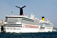 Luxury cruise ships Royalty Free Stock Photography