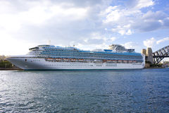 Luxury Cruiseliner at Sydney Australia. Image of a modern luxurious cruiseliner docked at Sydney, Australia Royalty Free Stock Image