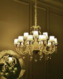Luxury crystal ceiling lighting Royalty Free Stock Photo