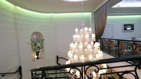 Luxury Crystal Chandelier stock video footage
