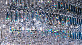 Luxury Crystal Chandelier. Close up on the crystal of a contemporary decoration. Luxury Crystal Chandelier. Close up on the crystal of a contemporary crystal stock photo