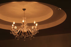 Luxury crystal chandelier Royalty Free Stock Images