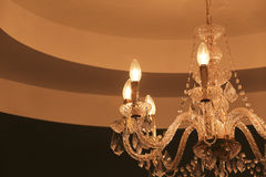 Luxury crystal chandelier Stock Photography
