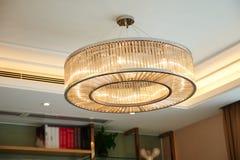 Luxury crystal chandelier  lighting Stock Photo