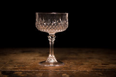 Luxury crystal cocktail glass Stock Image