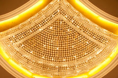 Luxury Crystal lamp Close up Stock Image