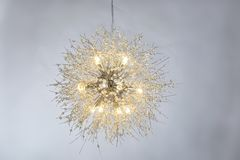 Luxury crystal led chandelier lighting royalty free stock photo