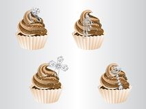 Luxury cupcakes Stock Photography