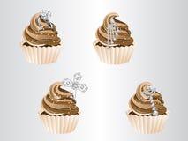 Luxury cupcakes Stock Photography