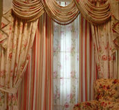Luxury curtain stock image