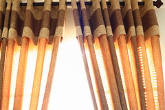 Luxury Curtain. With Black Rod Royalty Free Stock Image