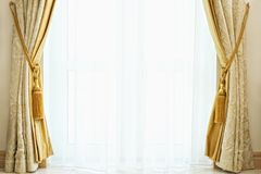 Luxury curtain with a copy-space Royalty Free Stock Images