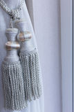 Luxury curtain gray wiith clipping path. Royalty Free Stock Images