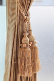 Luxury curtain and tassel Stock Image