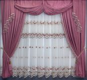 Luxury curtains in a classic style royalty free stock images