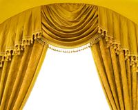 Luxury curtains with free space in the middle. Picture of a luxury curtains with free space in the middle Royalty Free Stock Images