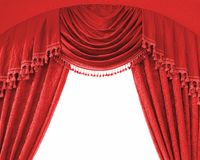 Luxury curtains with free space in the middle Royalty Free Stock Photos