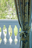 Luxury curtains over window Stock Photography