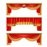 Luxury Curtains Realistic Composition royalty free stock photos
