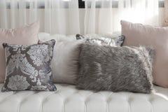 Luxury cushion. On home sofa royalty free stock photo