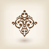 Luxury damask design element Stock Photography