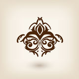 Luxury damask floating design element Royalty Free Stock Photo