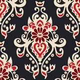 Luxury Damask seamles tiled motif vector pattern Royalty Free Stock Photos