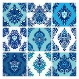Luxury Damask Seamless Design Set Stock Images