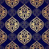 Luxury damask seamless motif . Vector Stock Image
