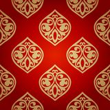 Luxury damask seamless motif . Vector Royalty Free Stock Image