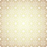 Luxury damask seamless motif . Vector. Blue and gold luxury damask seamless motif . Vintage Victorian style pattern.Vector illustration Stock Photo