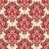 Luxury Damask seamless pattern vector Royalty Free Stock Image
