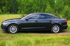 Luxury dark car Stock Photography
