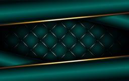 Luxury dark green background with overlap layer vector illustration