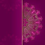 Luxury dark pink card Stock Photography