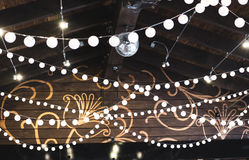 Luxury decorated place ceiling for wedding reception, catering i Royalty Free Stock Photos