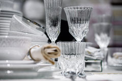 Luxury decorated table Royalty Free Stock Images