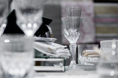 Luxury decorated table Royalty Free Stock Image