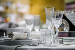 Luxury decorated table Stock Images