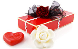 Luxury decorative gift box Royalty Free Stock Photos