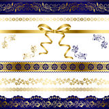 Luxury design elements set Stock Images