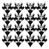 Luxury design Mandalas black--white Orient Stock Photos