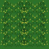 Luxury design Mandalas  green, black artwork Stock Photo
