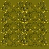 Luxury design Mandalas olive with black, gold Royalty Free Stock Photo